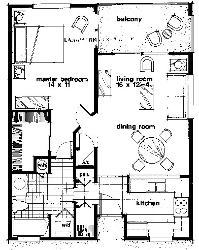 Ocean Village Club 1br-floor plan