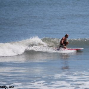 Surfing at St Augustine Beach