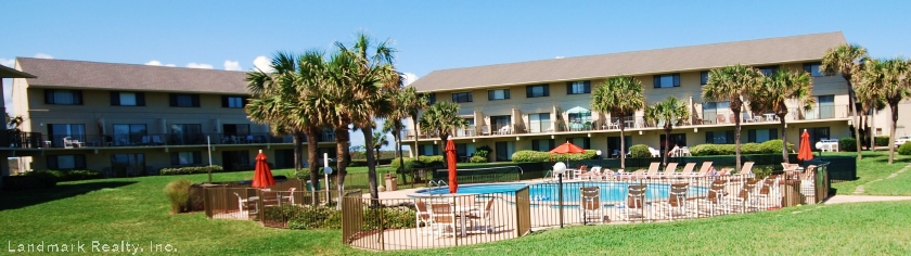 A picture of the pool area at Summerhouse Condominium located at Crescent Beach, Florida