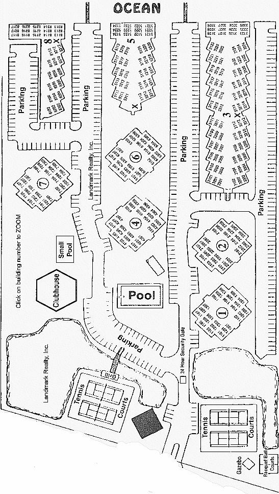 Site plan St. Augustine Ocean an Racquet Club Condominium